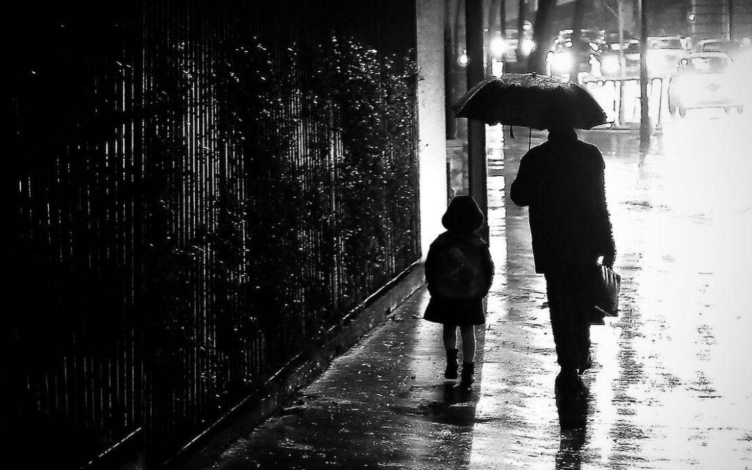 Titanes con paraguas