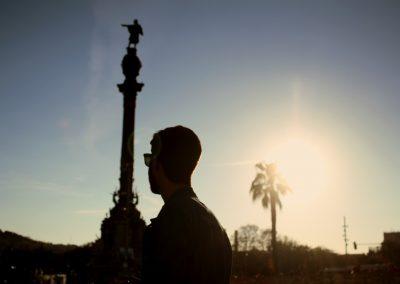 A contraluz, Barcelona