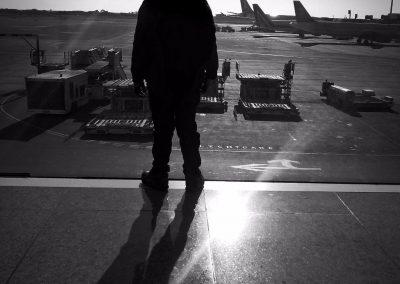 El primer vuelo, Aeropuerto de Barcelona,