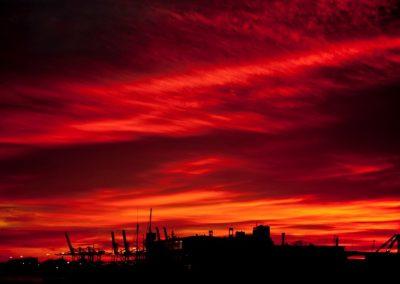 Atardeceres rojos, Port de Barcelona