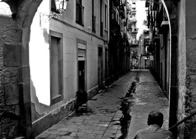 El callejón de los meados, El Raval