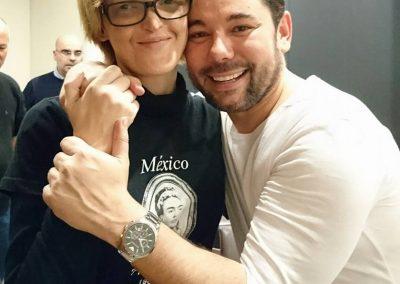 Con Miguel, previo al concierto en el Liceu, Diciembre de 2015