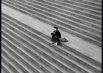 En las escaleras, Barcelona