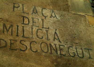 Graffiti de la Guerra Civil. Plaça del Pi