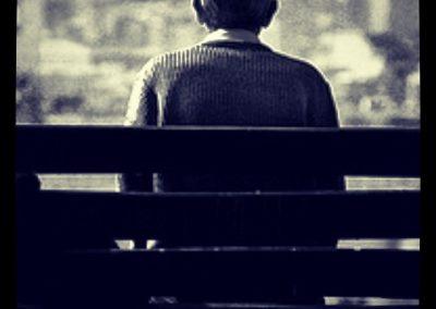 El hombre que lloraba mirando a la ciudad, Montjuic