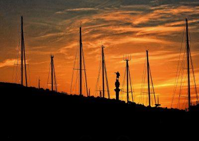 Atardecer, Port Vell