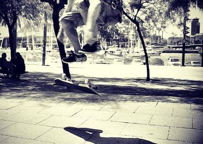 Saltos de skate, Barceloneta
