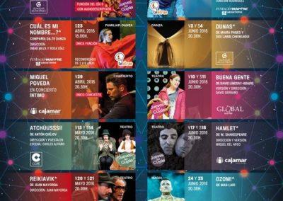 Cartelería concierto Miguel Poveda en el Teatro Cuyas, Canarias.